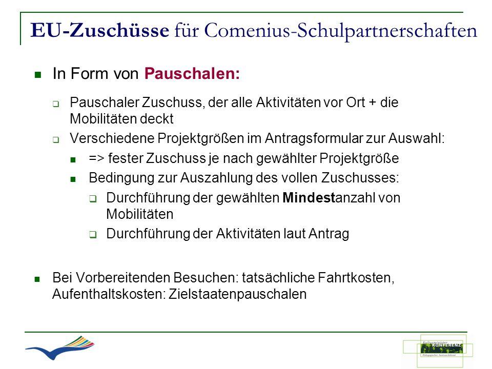EU-Zuschüsse für Comenius-Schulpartnerschaften