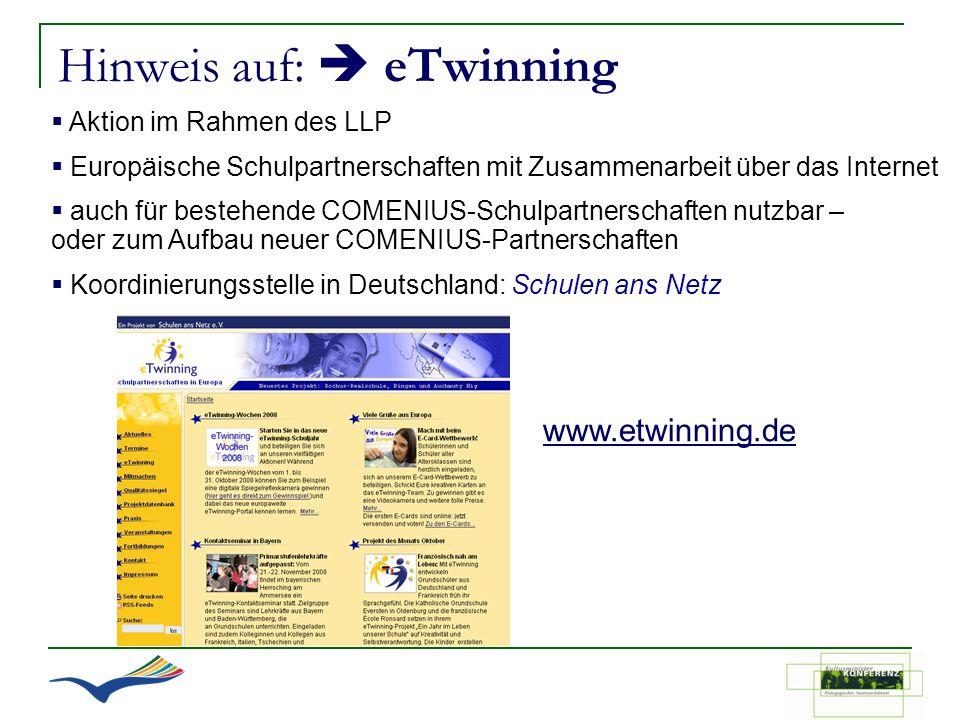 Hinweis auf:  eTwinning