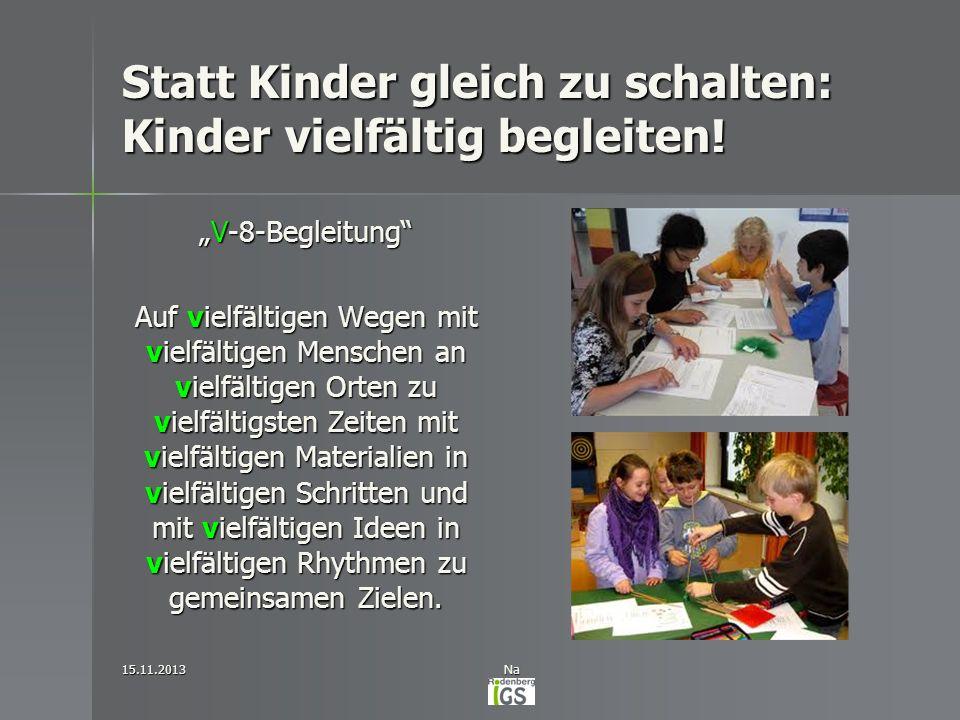 Statt Kinder gleich zu schalten: Kinder vielfältig begleiten!