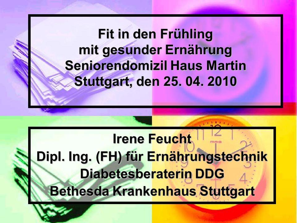Dipl. Ing. (FH) für Ernährungstechnik Diabetesberaterin DDG