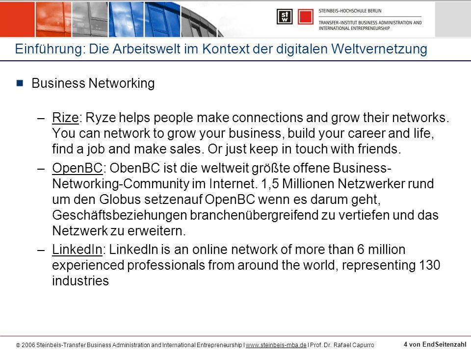 Einführung: Die Arbeitswelt im Kontext der digitalen Weltvernetzung