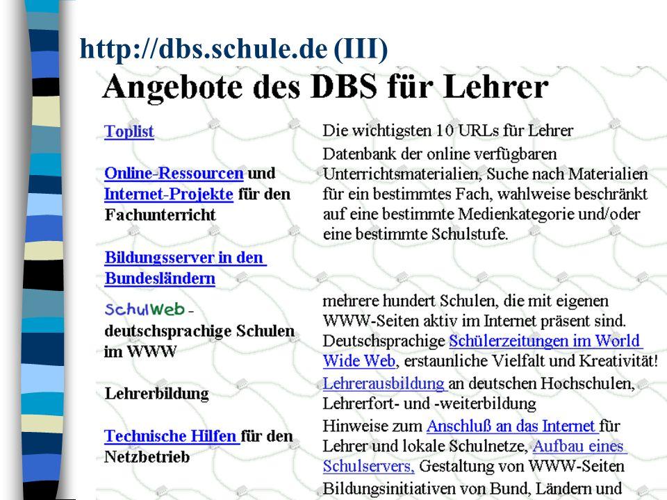 http://dbs.schule.de (III)