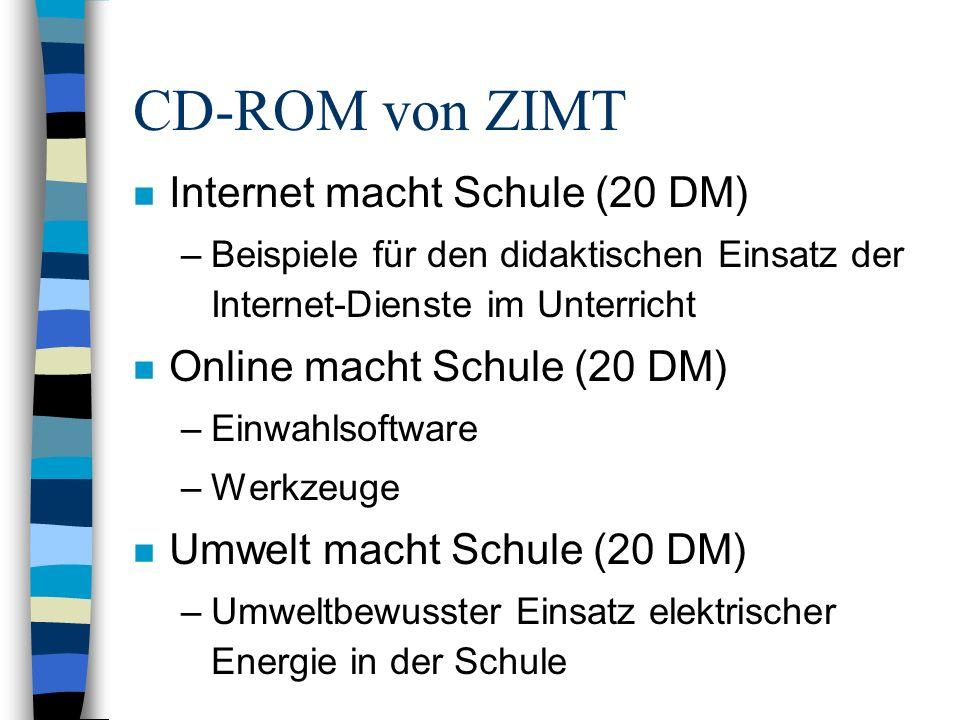 CD-ROM von ZIMT Internet macht Schule (20 DM)