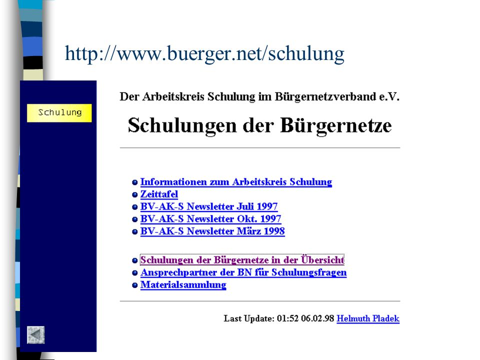 http://www.buerger.net/schulung
