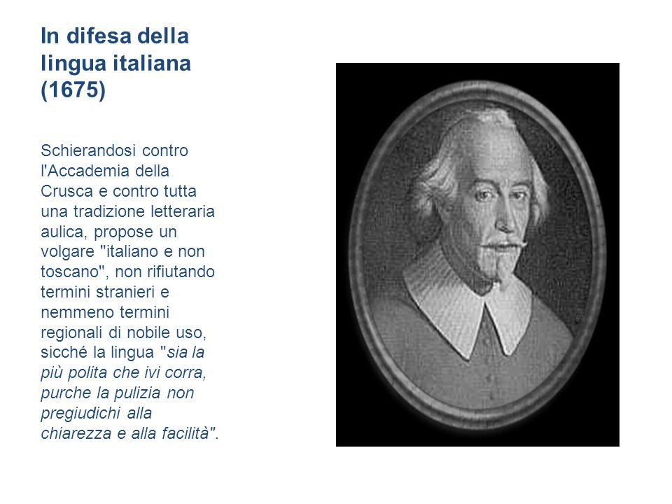 In difesa della lingua italiana (1675)