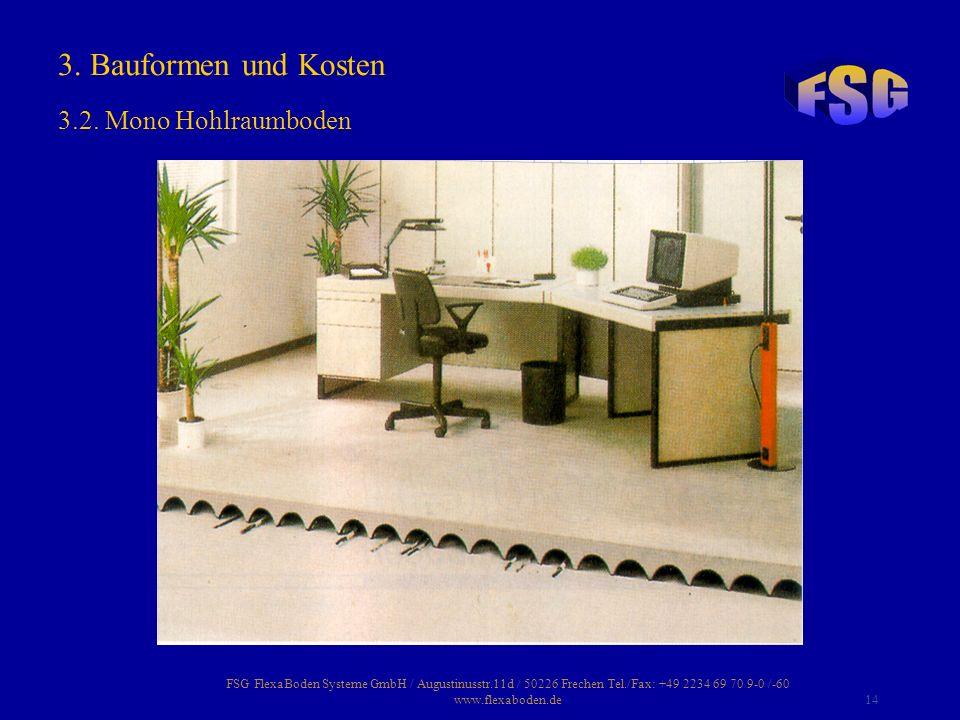 3. Bauformen und Kosten 3.2. Mono Hohlraumboden