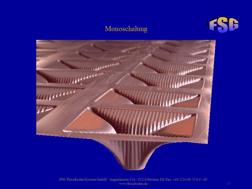 Monoschalung FSG FlexaBoden Systeme GmbH / Augustinusstr.11d / 50226 Frechen Tel./Fax: +49 2234 69 70 9-0 /-60 www.flexaboden.de.