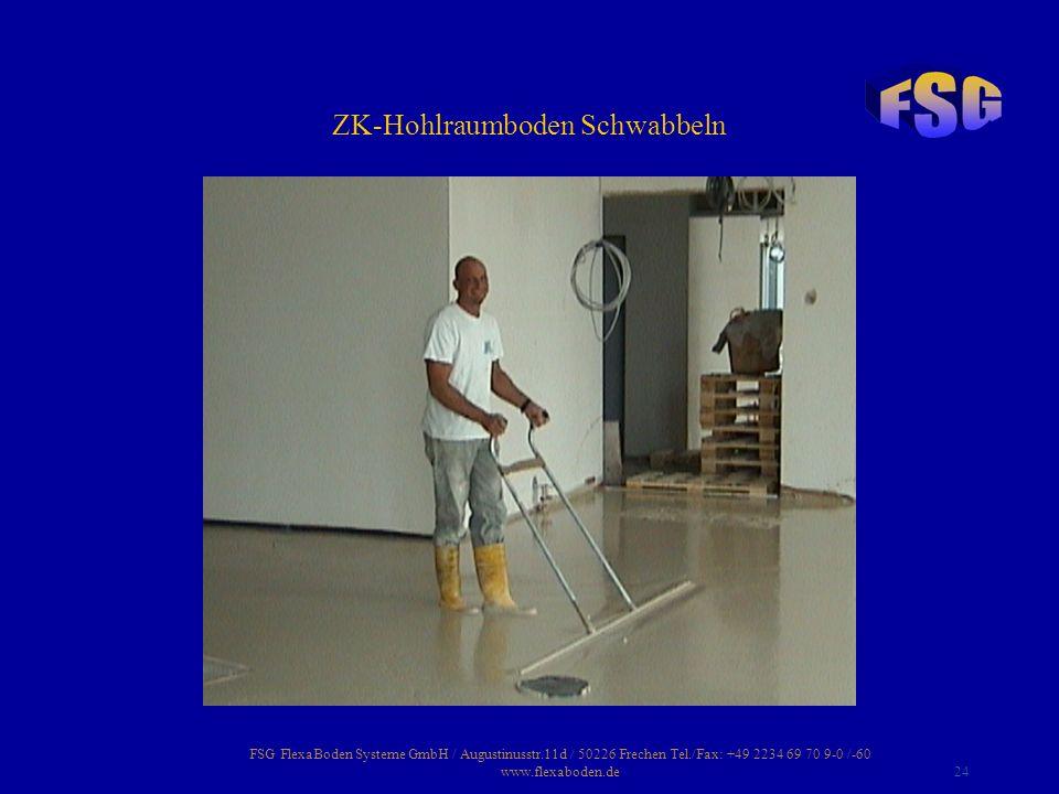 ZK-Hohlraumboden Schwabbeln