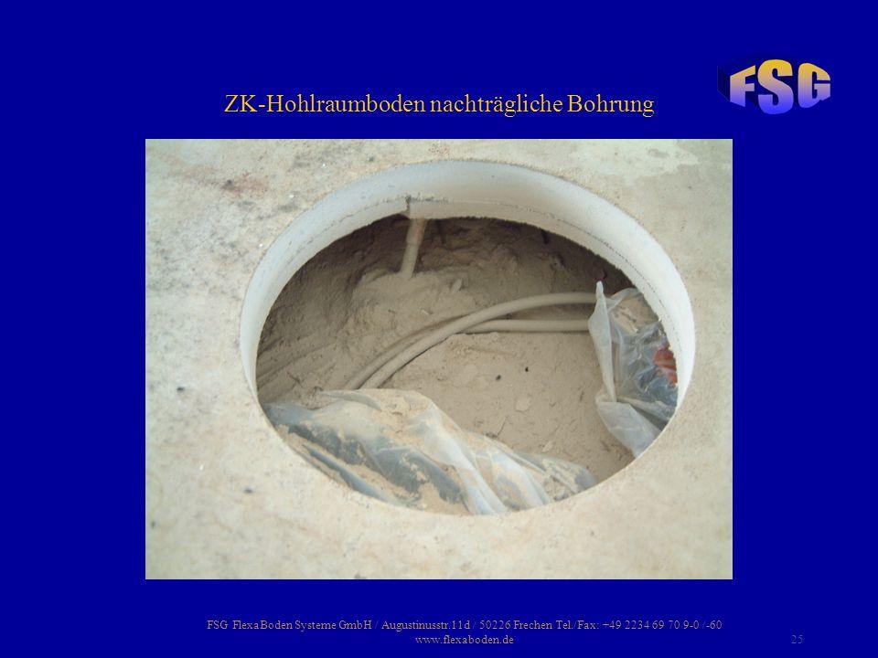 ZK-Hohlraumboden nachträgliche Bohrung