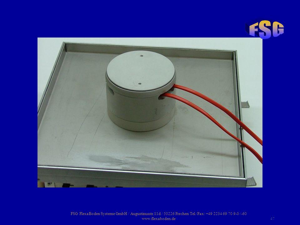 FSG FlexaBoden Systeme GmbH / Augustinusstr. 11d / 50226 Frechen Tel