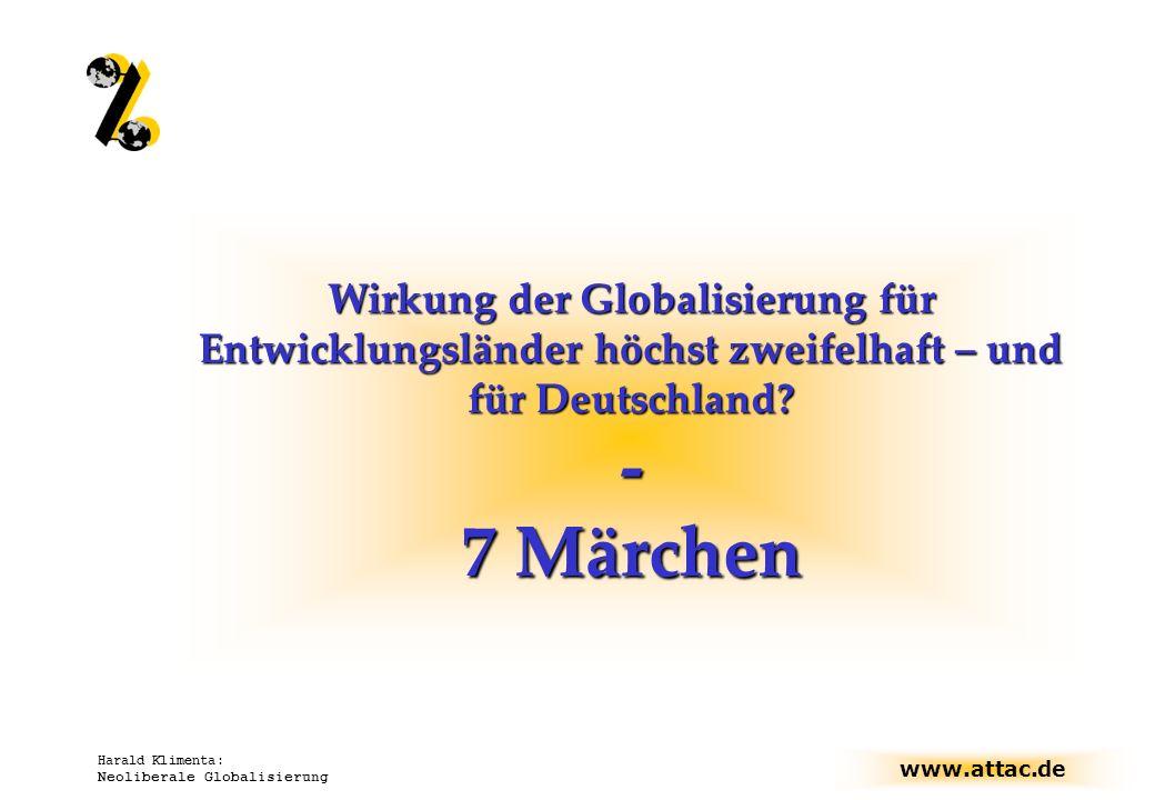 Wirkung der Globalisierung für Entwicklungsländer höchst zweifelhaft – und für Deutschland