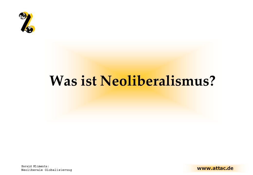 Was ist Neoliberalismus