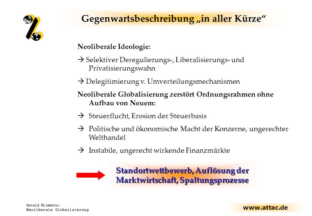 """Gegenwartsbeschreibung """"in aller Kürze"""