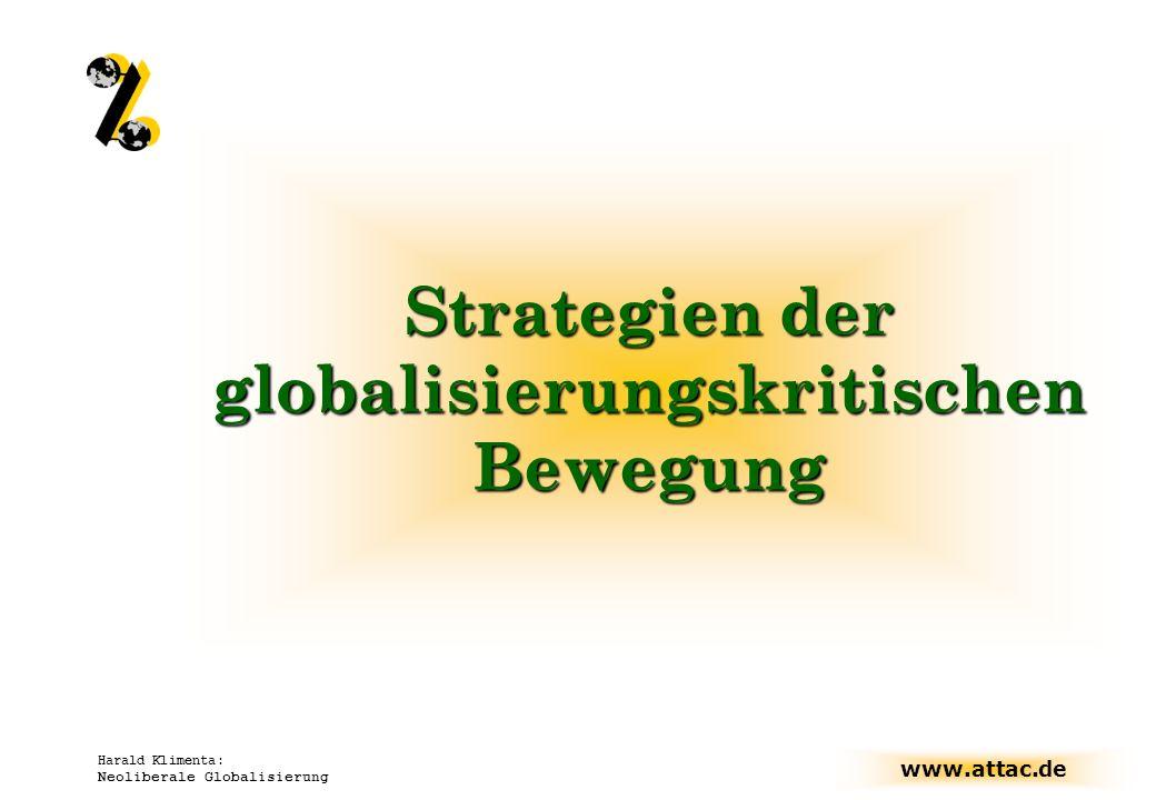 Strategien der globalisierungskritischen Bewegung