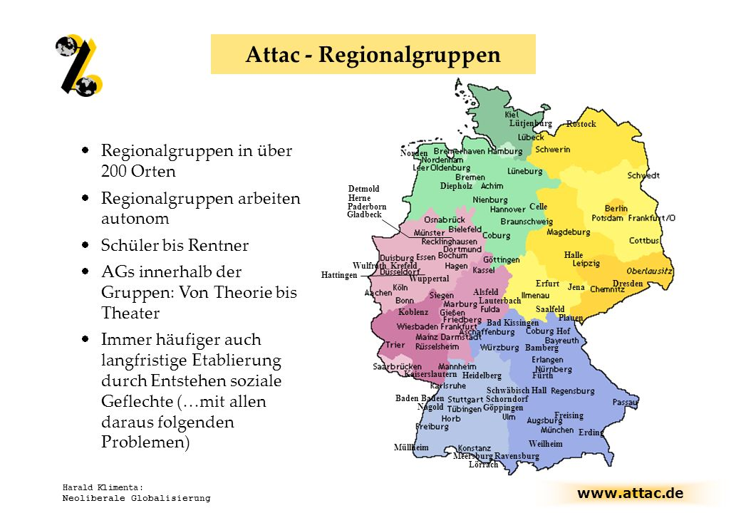 Attac - Regionalgruppen