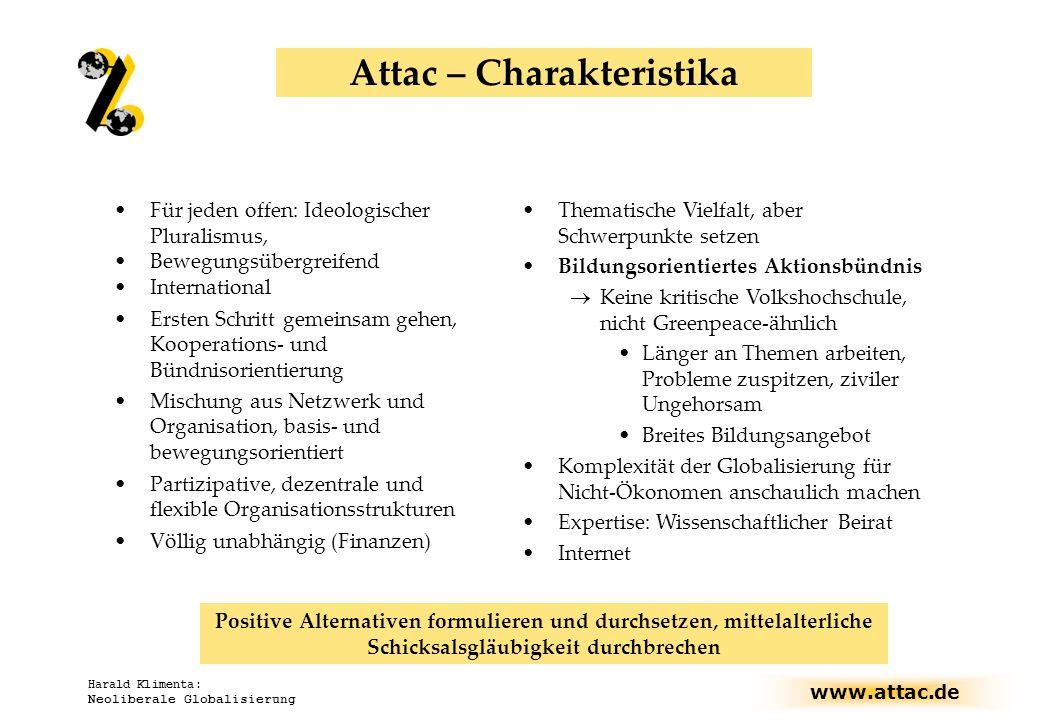 Attac – Charakteristika