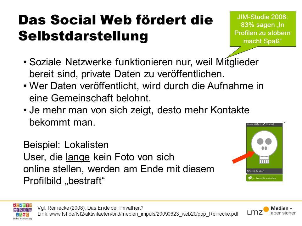 Das Social Web fördert die Selbstdarstellung