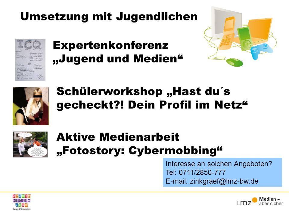 """Expertenkonferenz """"Jugend und Medien"""