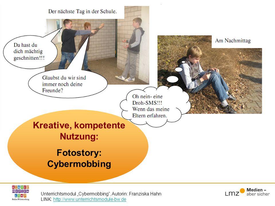 Kreative, kompetente Nutzung: Fotostory: Cybermobbing