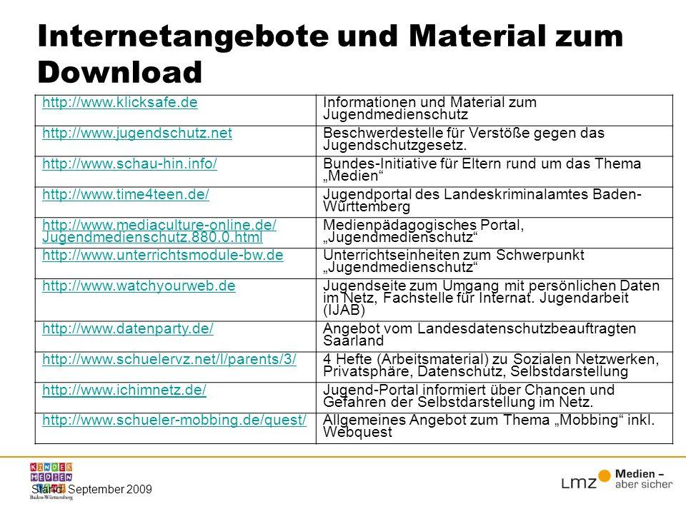Internetangebote und Material zum Download