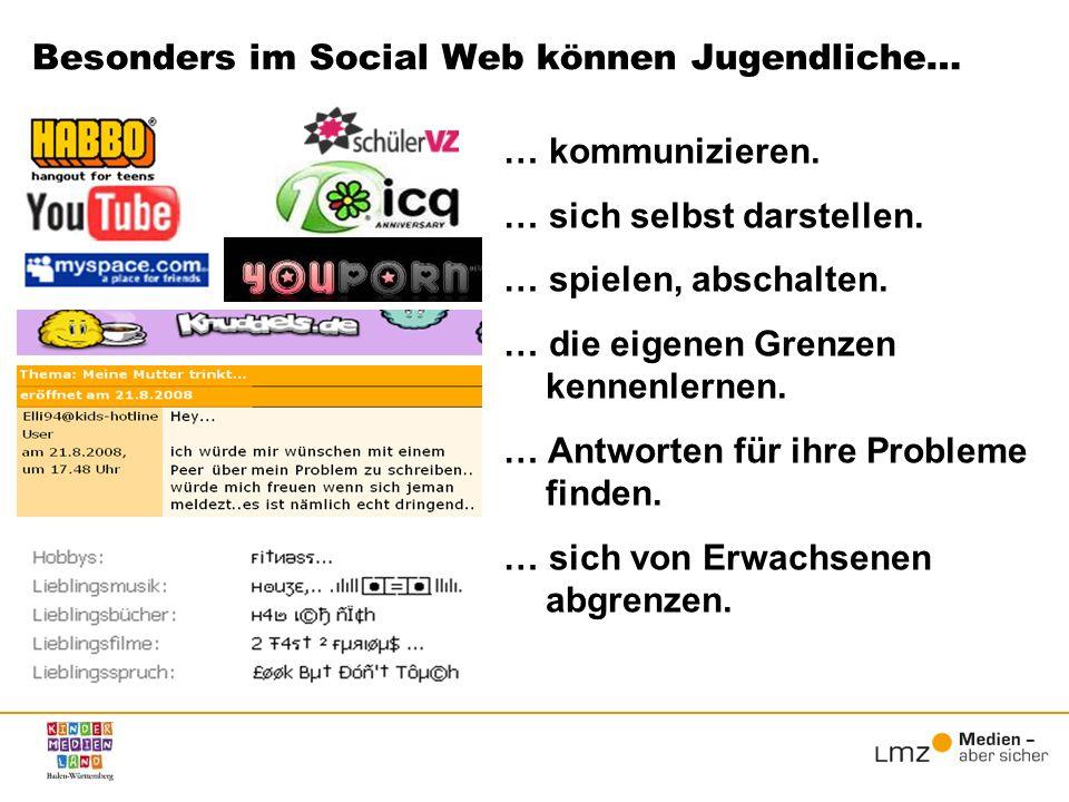Besonders im Social Web können Jugendliche…