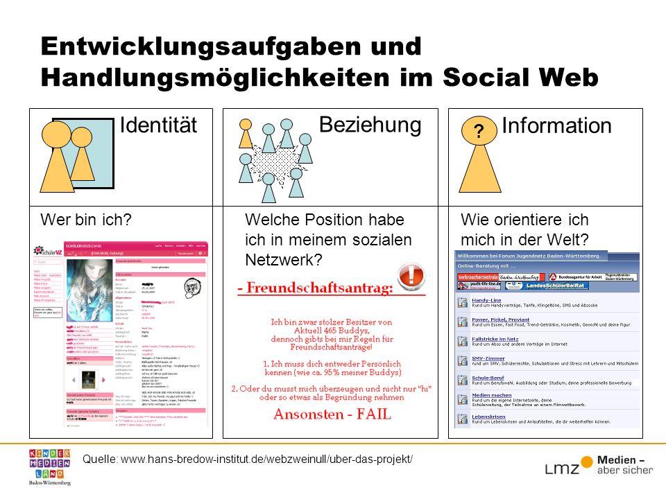 Entwicklungsaufgaben und Handlungsmöglichkeiten im Social Web