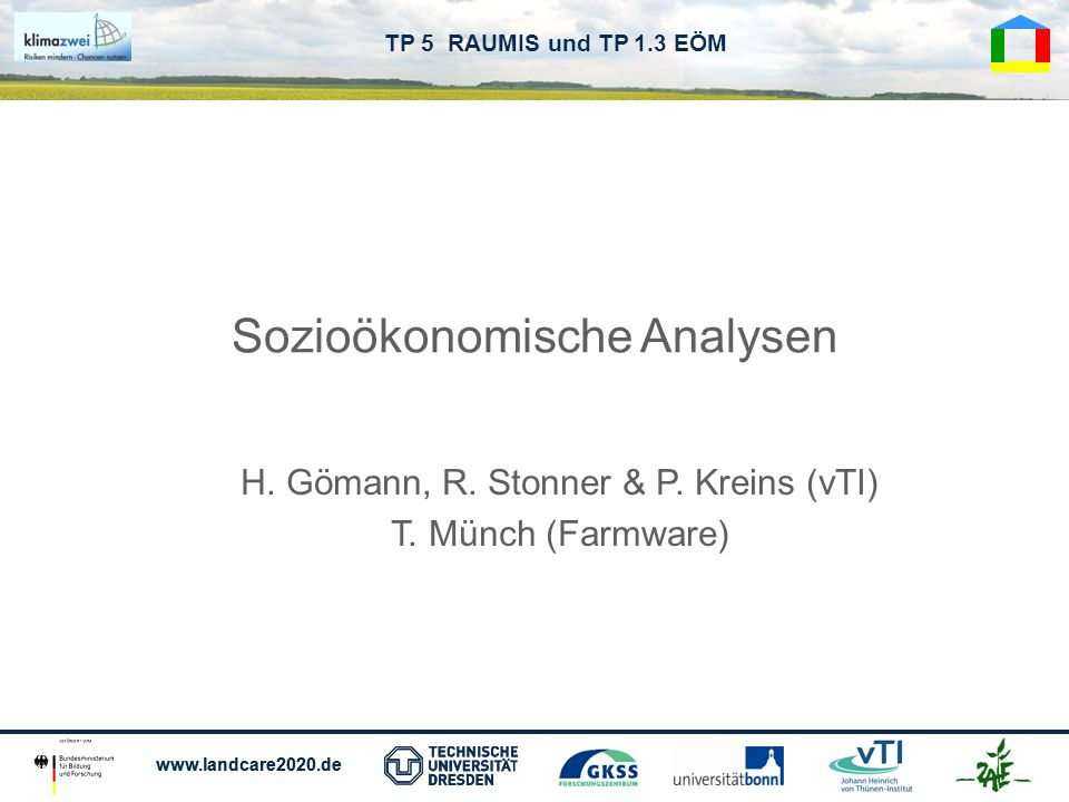 Sozioökonomische Analysen