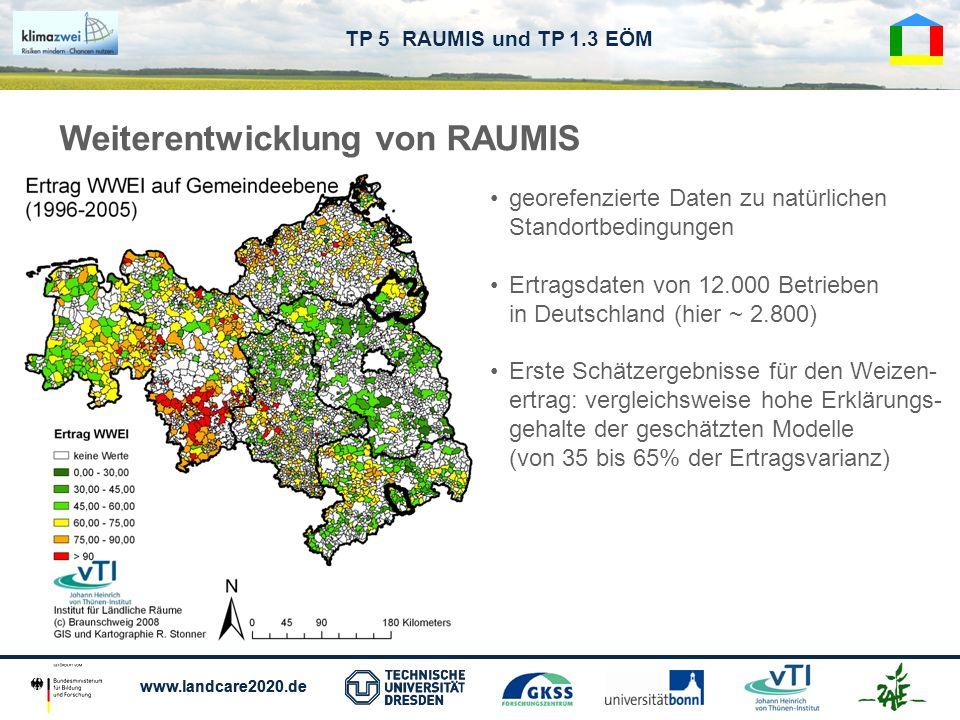 Weiterentwicklung von RAUMIS