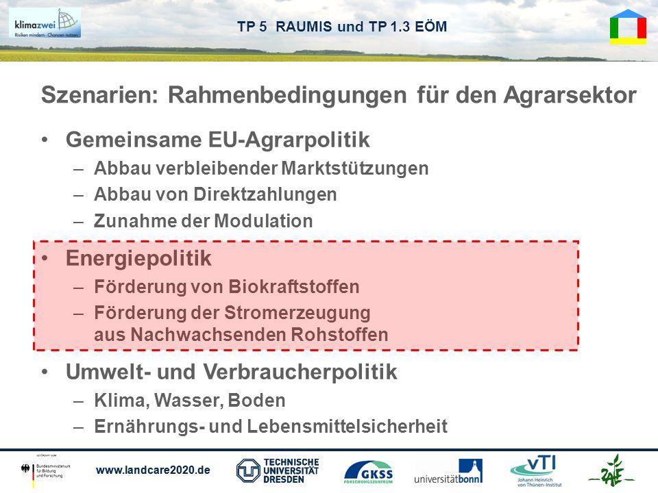 Szenarien: Rahmenbedingungen für den Agrarsektor