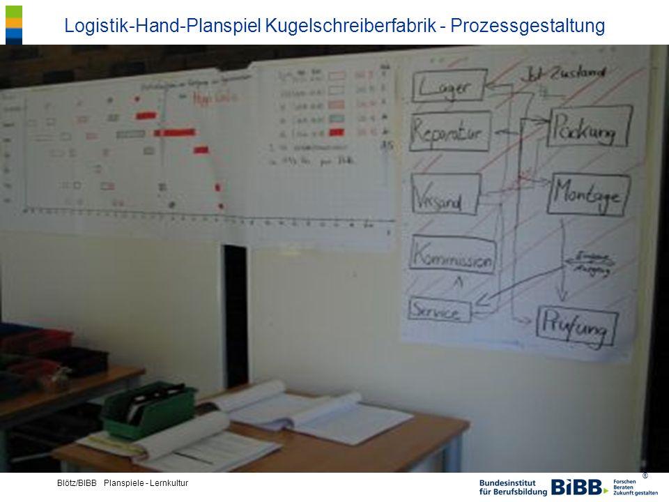 Logistik-Hand-Planspiel Kugelschreiberfabrik - Prozessgestaltung
