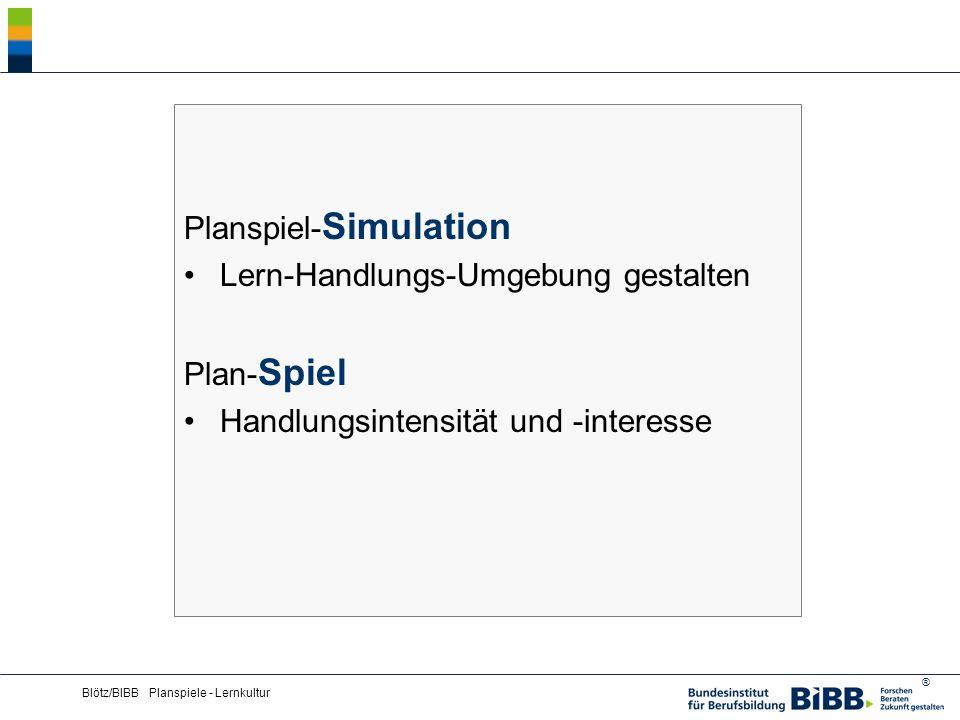 Planspiel-Simulation Lern-Handlungs-Umgebung gestalten Plan-Spiel