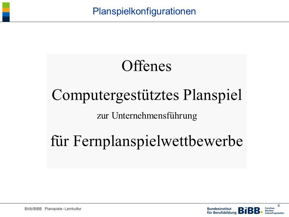 Planspielkonfigurationen