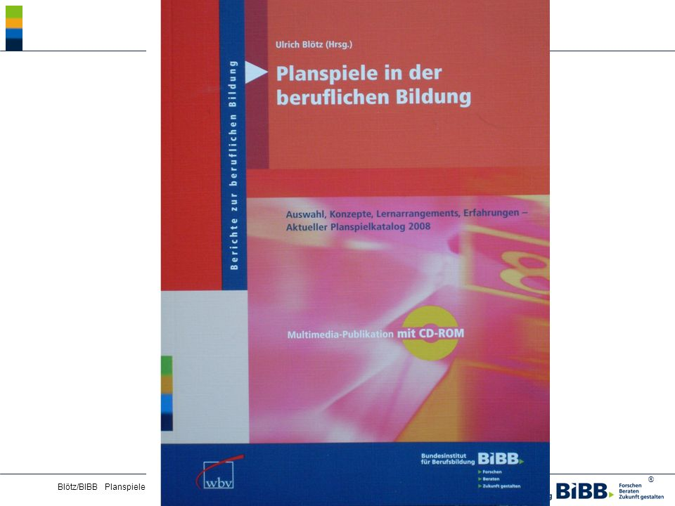 Blötz/BIBB Planspiele - Lernkultur