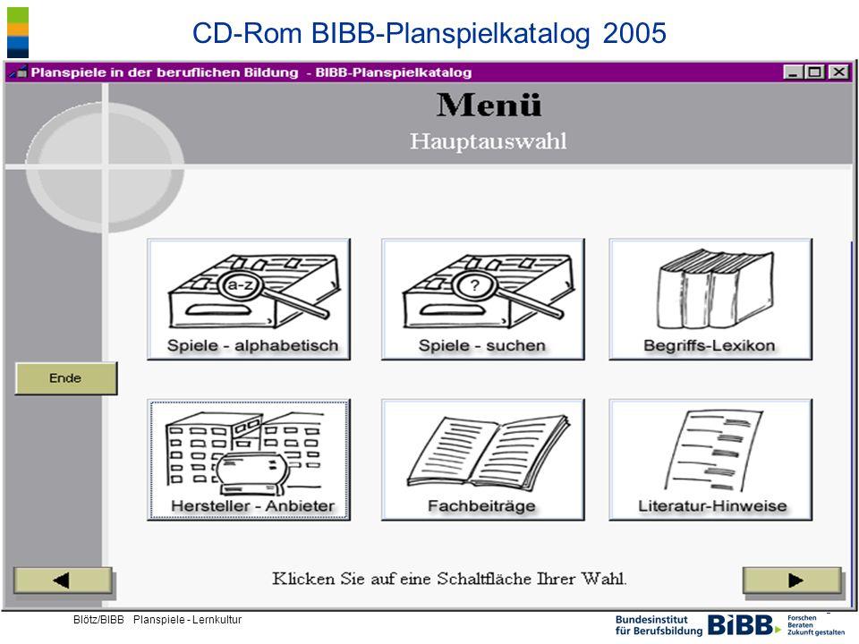 CD-Rom BIBB-Planspielkatalog 2005