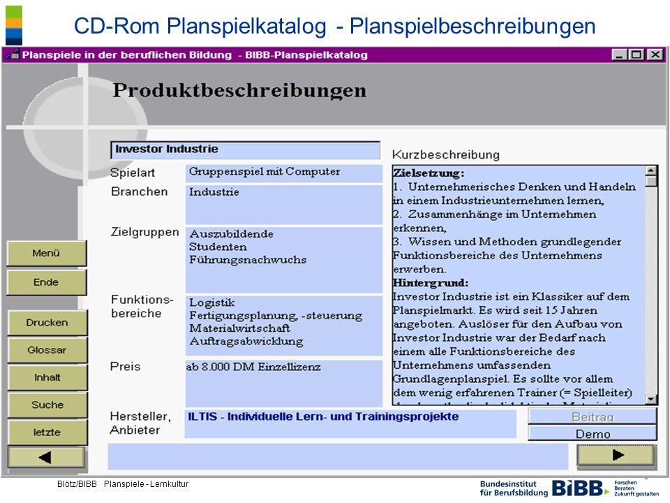 CD-Rom Planspielkatalog - Planspielbeschreibungen