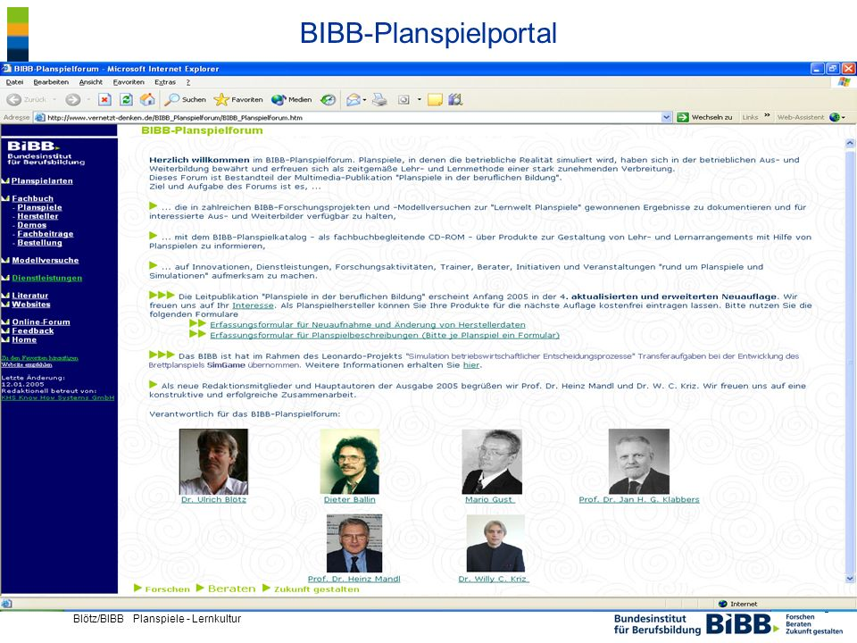 BIBB-Planspielportal