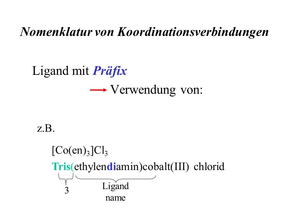 Nomenklatur von Koordinationsverbindungen