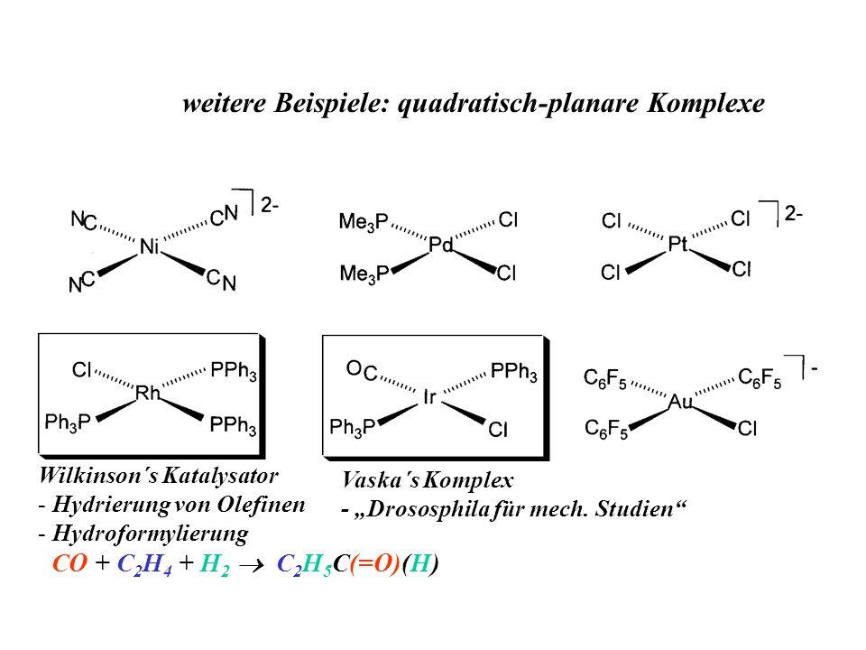 weitere Beispiele: quadratisch-planare Komplexe