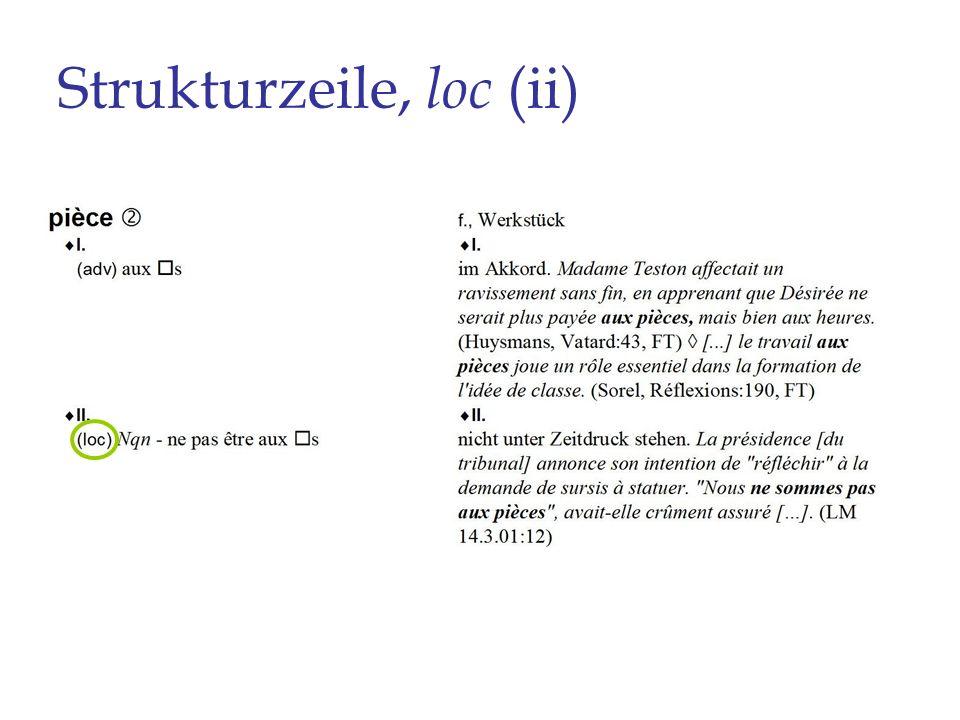 Strukturzeile, loc (ii)