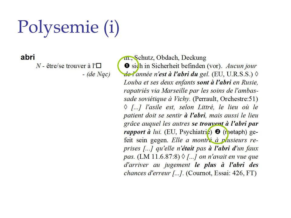 Polysemie (i)