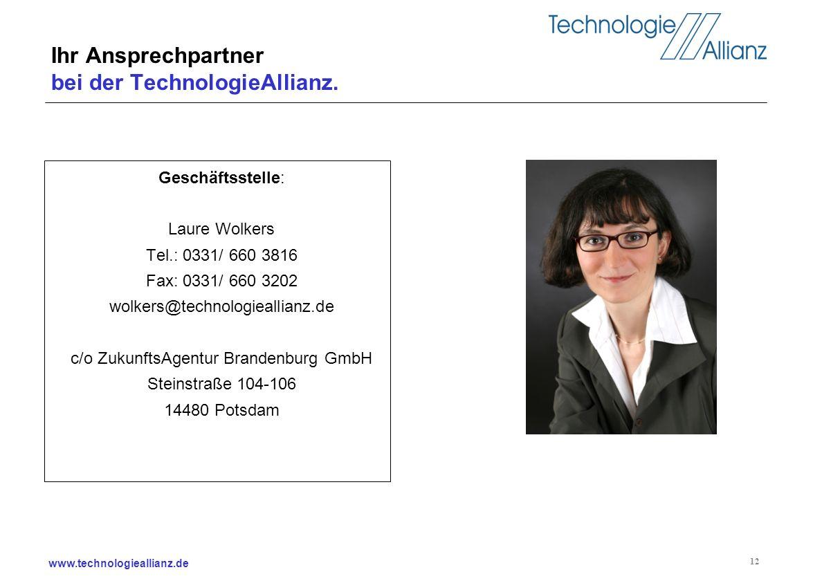 Ihr Ansprechpartner bei der TechnologieAllianz.