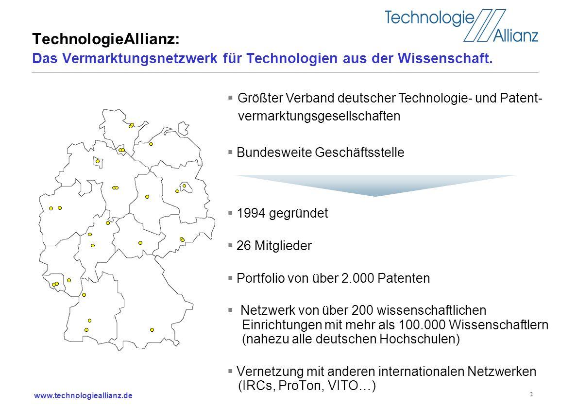 TechnologieAllianz: Das Vermarktungsnetzwerk für Technologien aus der Wissenschaft.