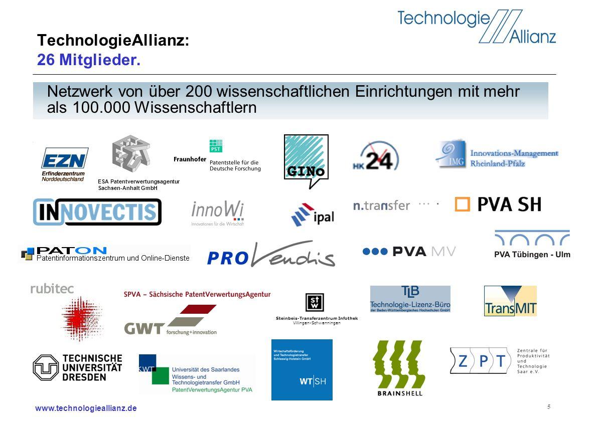 TechnologieAllianz: 26 Mitglieder.