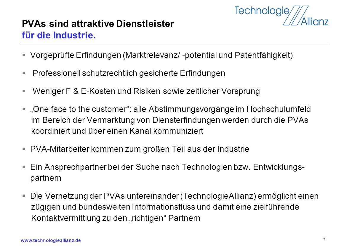 PVAs sind attraktive Dienstleister für die Industrie.