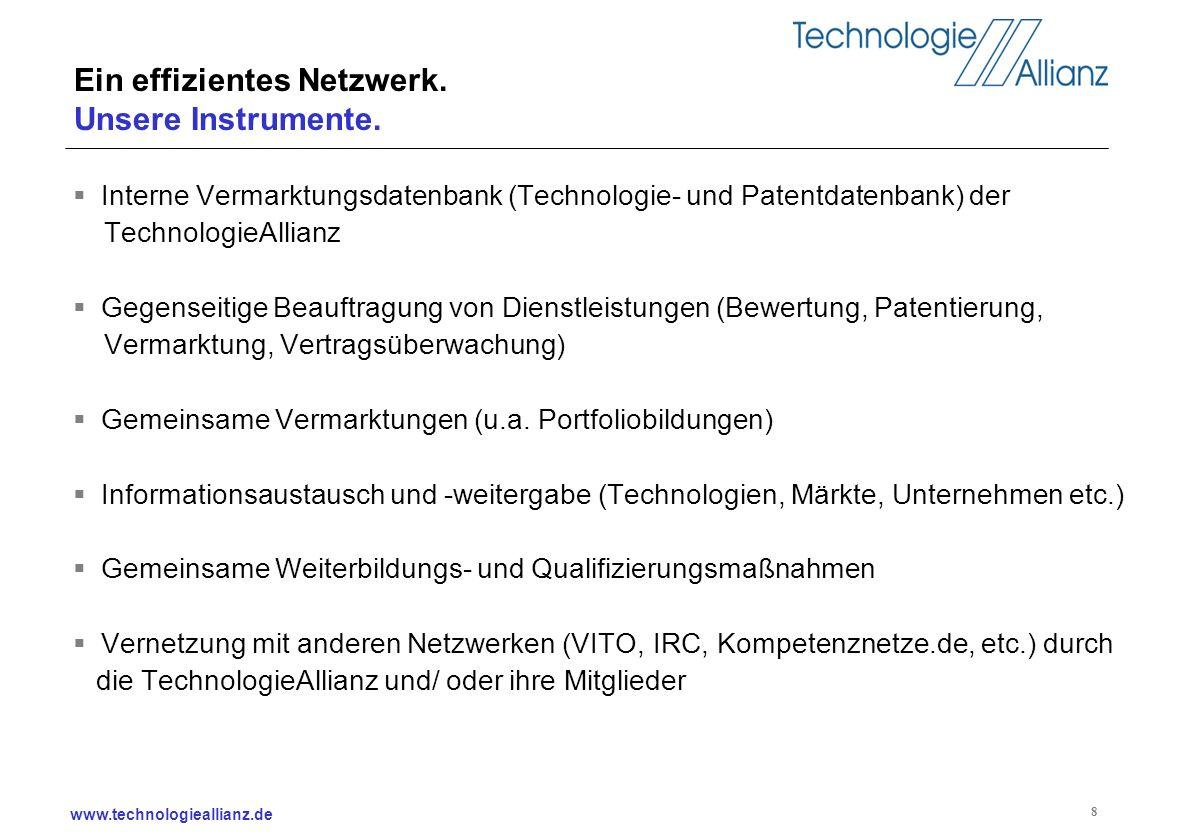Ein effizientes Netzwerk. Unsere Instrumente.