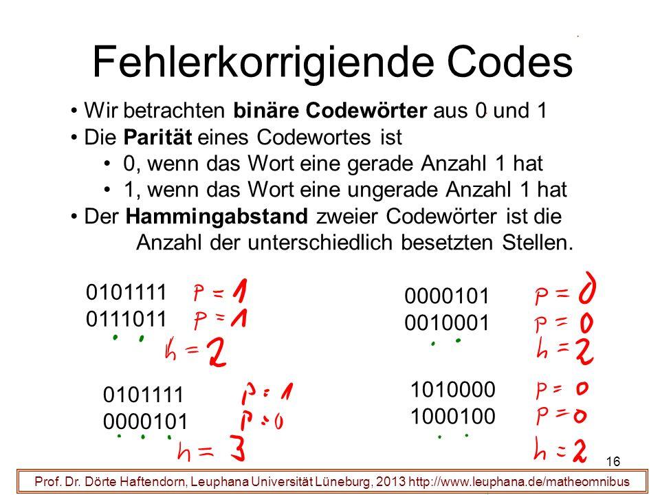 Fehlerkorrigiende Codes
