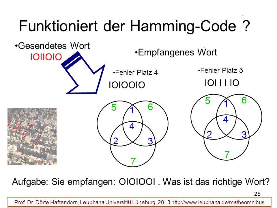 Funktioniert der Hamming-Code