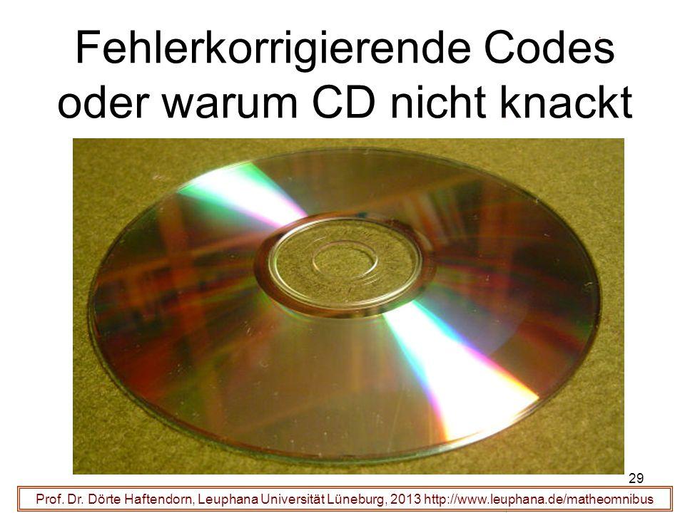 Fehlerkorrigierende Codes oder warum CD nicht knackt