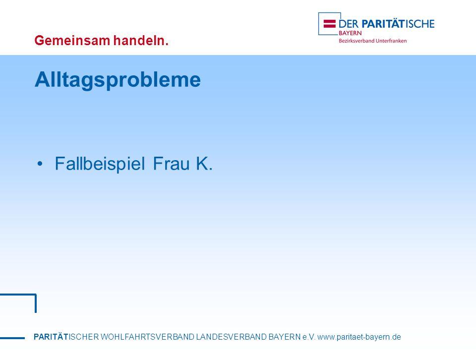 Alltagsprobleme Fallbeispiel Frau K.