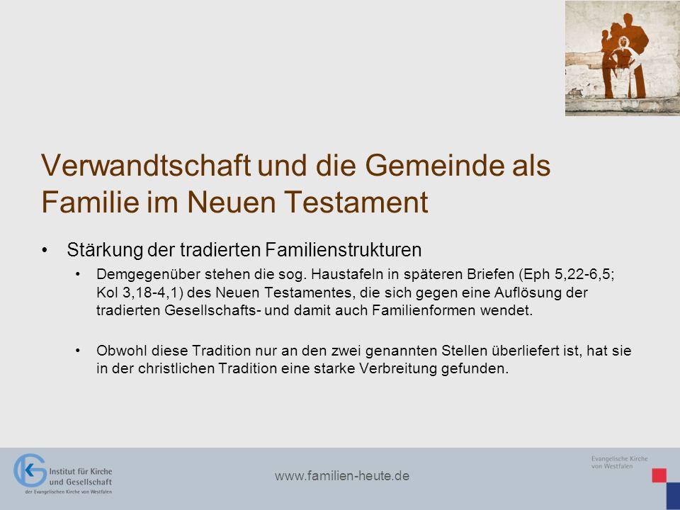 Verwandtschaft und die Gemeinde als Familie im Neuen Testament